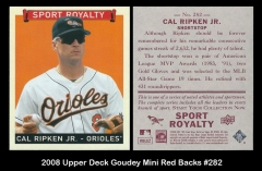 2008 Upper Deck Goudey Mini Red Backs #282