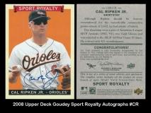 2008 Upper Deck Goudey Sport Royalty Autographs #CR