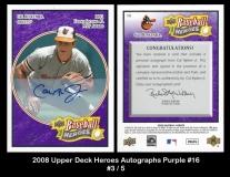 2008 Upper Deck Heroes Autographs Purple #16