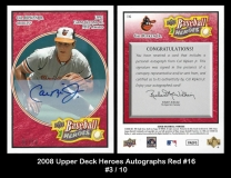 2008 Upper Deck Heroes Autographs Red #16