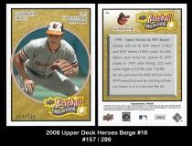 2008 Upper Deck Heroes Beige #16