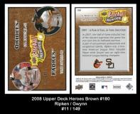 2008 Upper Deck Heroes Brown #180
