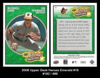 2008 Upper Deck Heroes Emerald #16