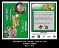 2008 Upper Deck Heroes Emerald #180
