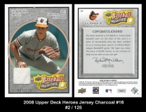 2008 Upper Deck Heroes Jersey Charcoal #16