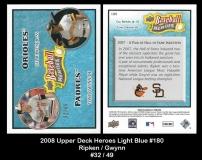 2008 Upper Deck Heroes Light Blue #180