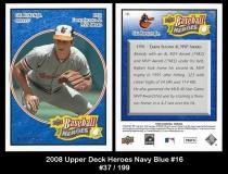 2008 Upper Deck Heroes Navy Blue #16
