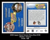 2008 Upper Deck Heroes Navy Blue #180