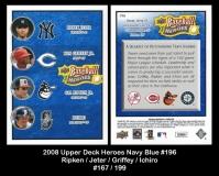 2008 Upper Deck Heroes Navy Blue #196