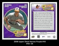 2008 Upper Deck Heroes Purple #16