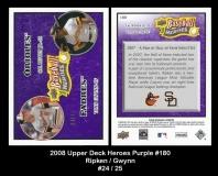 2008 Upper Deck Heroes Purple #180