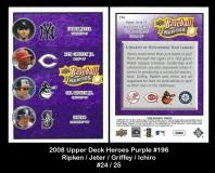 2008 Upper Deck Heroes Purple #196