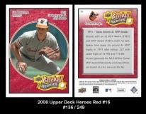 2008 Upper Deck Heroes Red #16