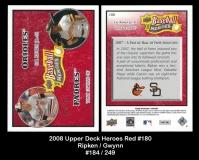 2008 Upper Deck Heroes Red #180
