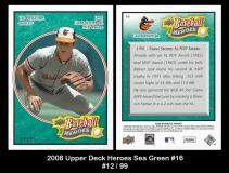 2008 Upper Deck Heroes Sea Green #16
