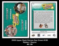 2008 Upper Deck Heroes Sea Green #180