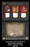 2008 Upper Deck Premier Trios Memorabilia Gold #SRB