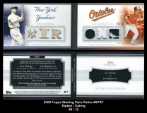 2009 Topps Sterling Pairs Relics #SPR7