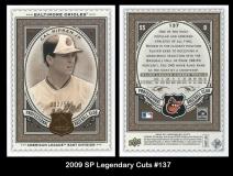 2009 SP Legendary Cuts #137