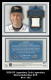 2009 SP Legendary Cuts Legendary Memorabilia Blue #CR
