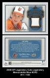 2009 SP Legendary Cuts Legendary Memorabilia Blue #CR2