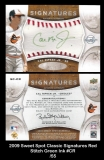 2009 Sweet Spot Classic Signatures Red Stitch Green Ink #CR