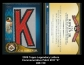 2009 Topps Legendary Letters Commemorative Patch #CR K
