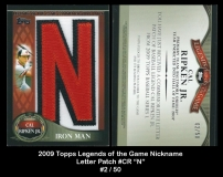 2009 Topps Legends of the Game Nickname Letter Patch #CR N