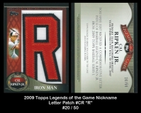 2009 Topps Legends of the Game Nickname Letter Patch #CR R