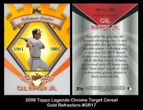 2009 Topps Legends Chrome Target Cereal Gold Refractors #GR17