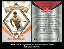 2009 Topps Legends Chrome Wal-Mart Cereal Refractors #PR17