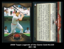 2009 Topps Legends of the Game Gold #LG25