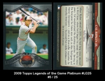 2009 Topps Legends of the Game Platinum #LG25