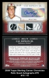 2009 Topps Sterling Career Chronicles Relic Quad Autographs #76
