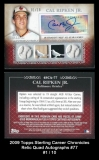 2009 Topps Sterling Career Chronicles Relic Quad Autographs #77