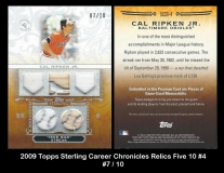 2009 Topps Sterling Career Chronicles Relics Five 10 #4