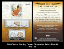 2009 Topps Sterling Career Chronicles Relics Five #4
