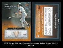 2009 Topps Sterling Career Chronicles Relics Triple 10 #12