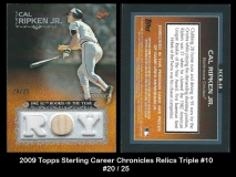 2009 Topps Sterling Career Chronicles Relics Triple #10