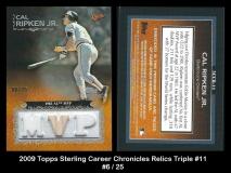 2009 Topps Sterling Career Chronicles Relics Triple #11