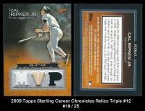 2009 Topps Sterling Career Chronicles Relics Triple #12