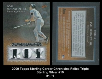 2009 Topps Sterling Career Chronicles Relics Triple Sterling Silver #10