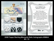 2009 Topps Sterling Moments Relic Autographs #SMA4