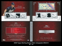 2009 Topps Sterling Season Relic Autographs #SSA10