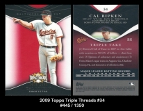 2009 Topps Triple Threads #34
