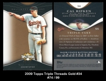 2009 Topps Triple Threads Gold #34