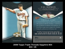 2009 Topps Triple Threads Sapphire #34