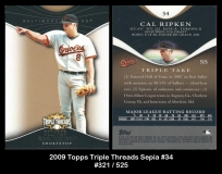 2009 Topps Triple Threads Sepia #34