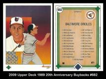 2009 Upper Deck 1989 20th Anniversary Buybacks #682