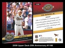 2009 Upper Deck 20th Anniversary #1166